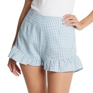 MINKPINK TOTO CHAMBRAY & WHITE GINGHAM SHORTS